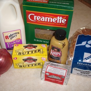Limburger Mac & Cheese Ingredients