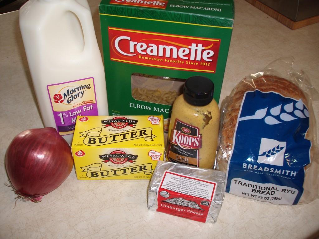 Limburger Mac & Cheese Ingredients