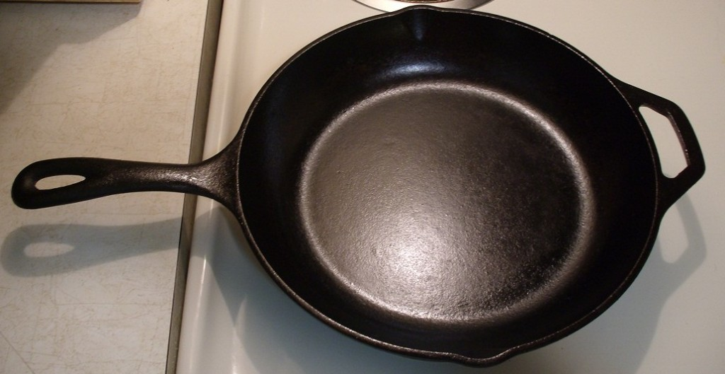 My Lodge Skillet after sanding and re-seasoning