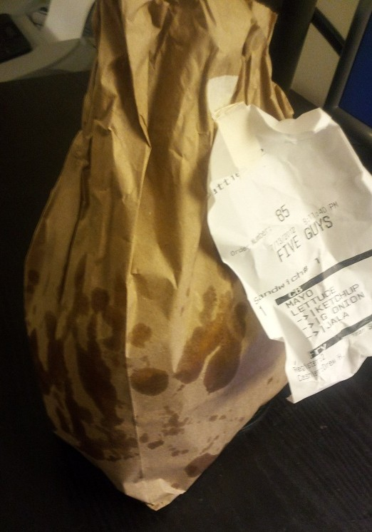 Five guys bag