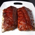 Glazed BBQ Ribs in the Oven on a plate