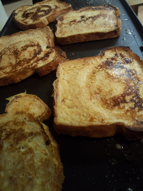 Grilling French Toast