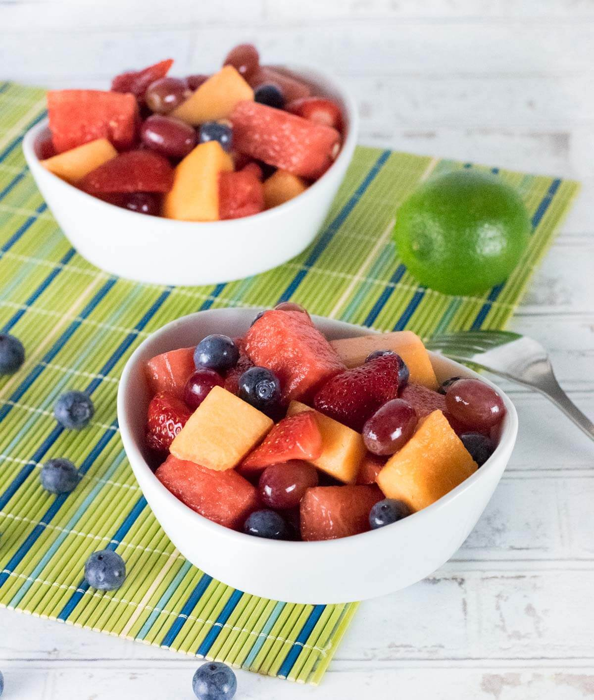 Easy Fruit Salad in a bowl