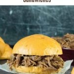 Crockpot Shredded Beef Sandwiches