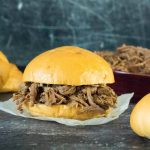 Crockpot shredded beef sandwiches recipe