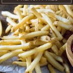 How to make homemade French fries #potatoes #sidedish #fried