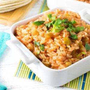 Easy Spanish Rice with Salsa