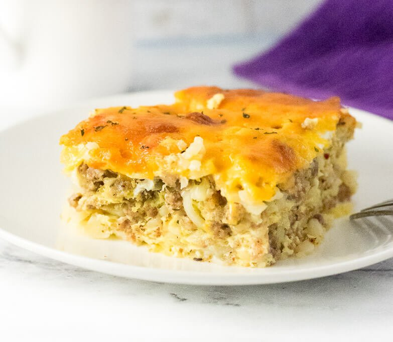 How to make a breakfast casserole with hash browns