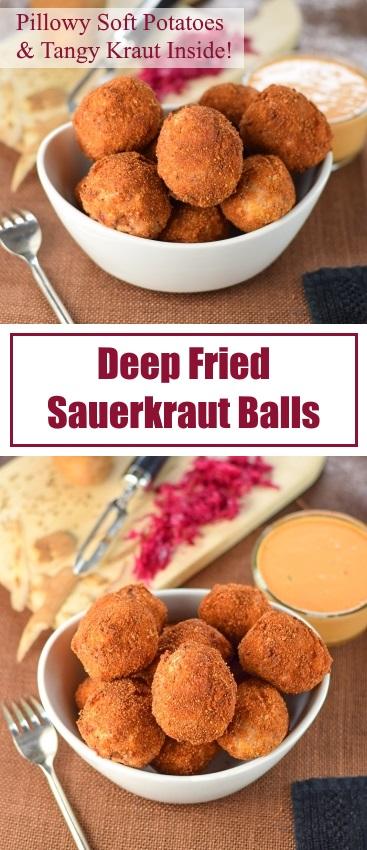 Deep Fried Sauerkraut Balls recipe - Appetizer