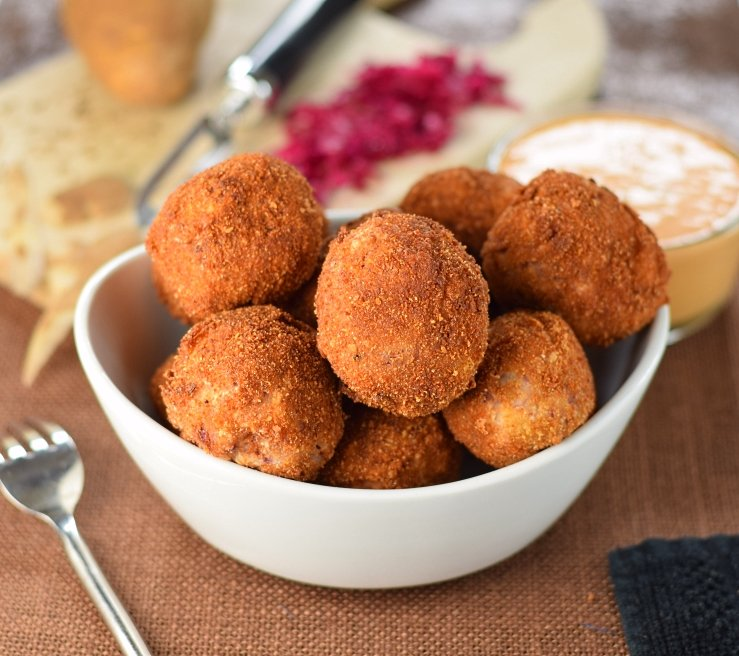 Deep fried sauerkraut balls