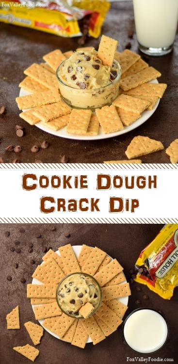 Eggless Cookie Dough Dip - Cookie Dough Crack Dip