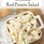 Creamy Red Potato Salad recipe #picnic #potluck #sidedish #summer