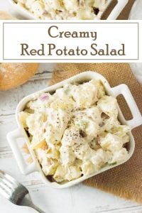 Creamy Red Potato Salad recipe #picnic #potluck #sidedish #summer