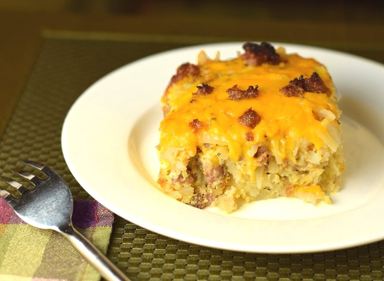 Combine frozen hash brown potatoes with sausage, eggs, and cheese for a hearty, 5-star-rated breakfast or brunch casserole that can be prepped ahead and baked the next morning. Sauté one large onion and one bell pepper in the pork drippings for extra flavor and color.