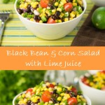 Black bean and corn salad with lime juice recipe