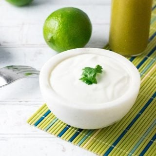 Cilantro Lime Sour Cream Sauce