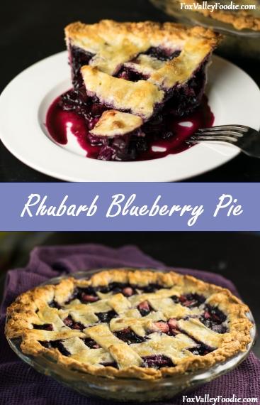 Rhubard Blueberry Pie Recipe