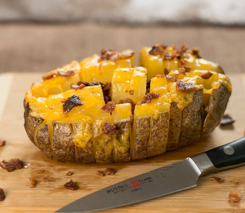 Cheesy Blooming Potato Recipe