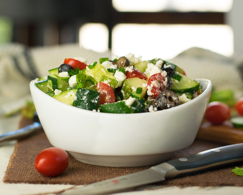 Cucumber Tomato and Feta Salad with Mint - Fox Valley Foodie
