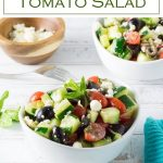 This fresh tasting cucumber tomato salad is the perfect summer salad. #salad #potluck #picnic #summer