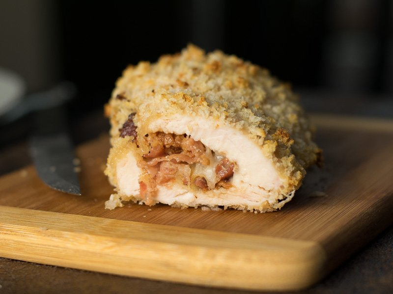 French Onion and Panko Crusted Chicken with Swiss and Bacon