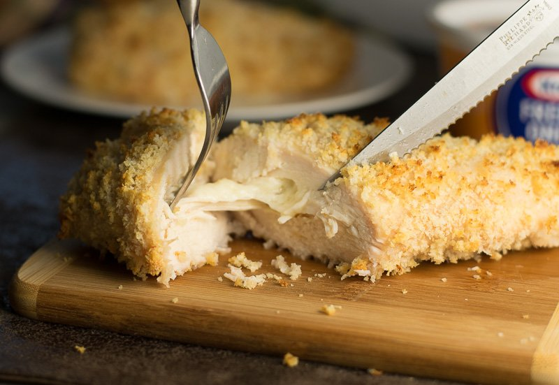 French Onion and Panko Crusted Chicken Breast