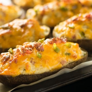 Jalapeno Poppers Twice Baked Potatoes