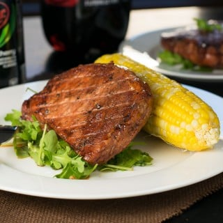 Dr Pepper Cherry Glazed Pork Loin Chop