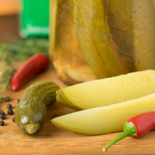 Spicy Cider Dill Pickles