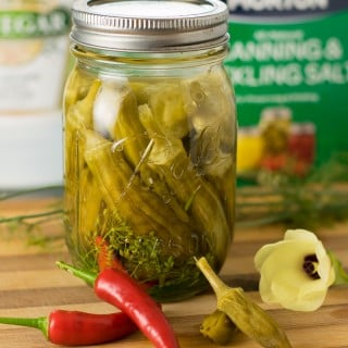 Spicy Dill Pickled Okra