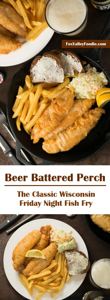 Beer battered perch