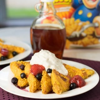 Cap'n Crunch French Toast with Cinnamon Whipped Cream