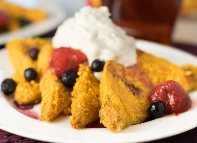 Cap'n Crunch French Toast recipe with cinnamon whipped cream