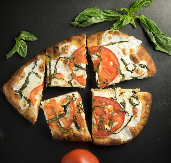 Naan flatbread pizza recipe