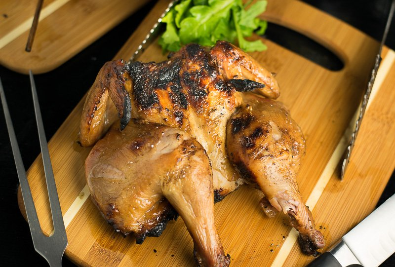 Asian Brined Cornish Hen recipe