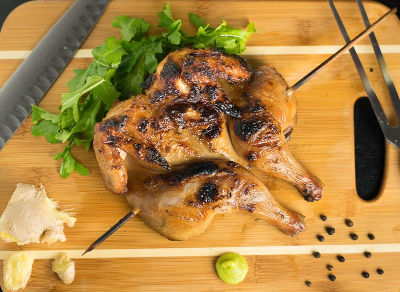 Asian Brined Cornish Hen