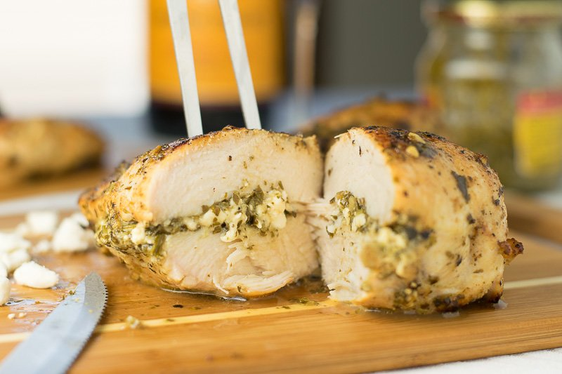Feta And Pesto Stuffed Chicken Breasts Fox Valley Foodie