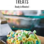 Fruit Loops Treats recipe, ready in minutes! #dessert #cereal #marshmallow