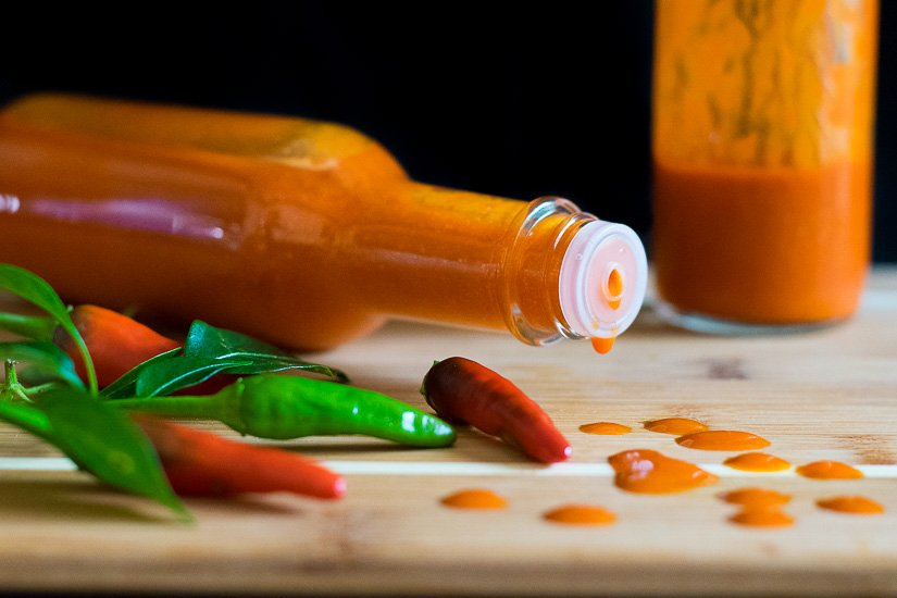 Homemade Asian Hot Sauce with Thai Peppers
