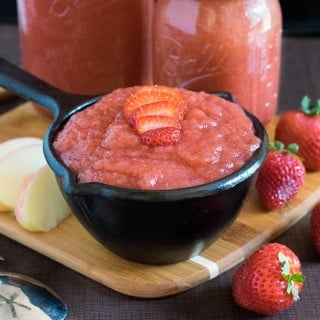 Homemade Strawberry Applesauce recipe