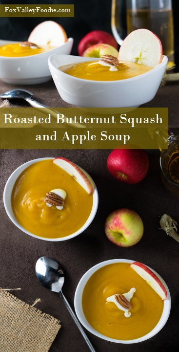 Roasted Butternut Squash and Apple Soup