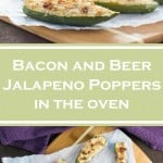 Bacon and Beer Jalapeno Poppers in the oven