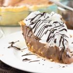 Caramel and Chocolate Marshmallow Cream Pie