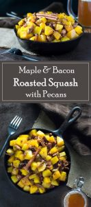 Maple & Bacon Roasted Squash with Pecans Fall Recipe