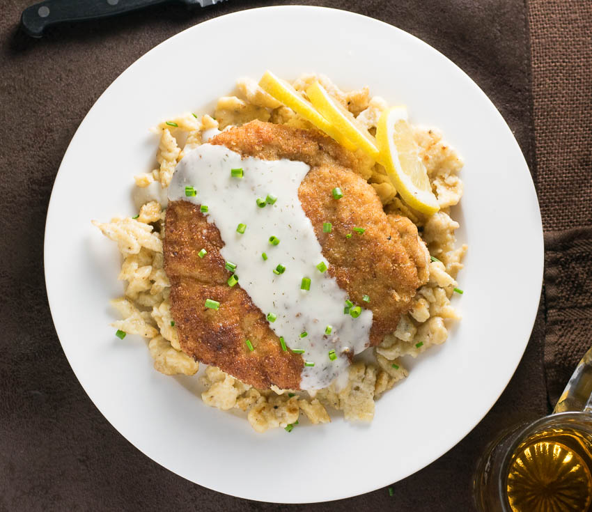 Wiener Schnitzel with Lemon Dill Sauce recipe