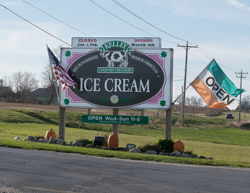 Kelley Country Creamery Sign