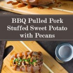 BBQ Pulled Pork Stuffed Sweet Potato with Pecans