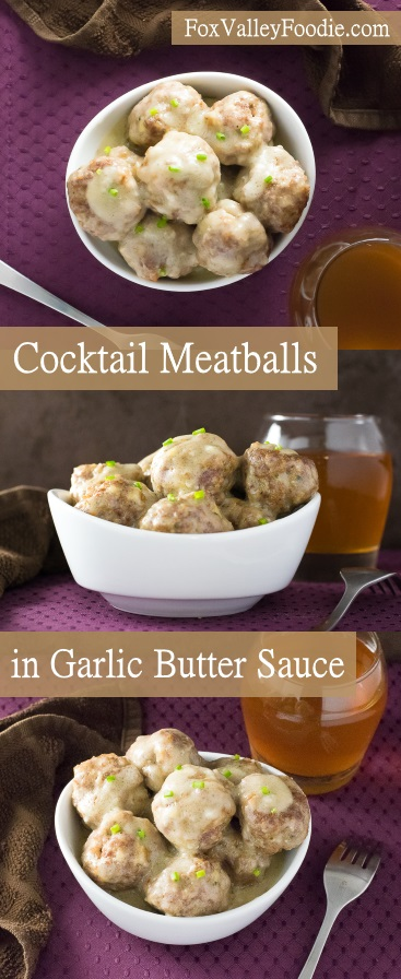 Cocktail Meatballs in Garlic Butter Sauce