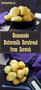 Homemade Buttermilk Cornbread from Scratch #cornbread #southern #sidedish