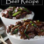 Mongolian Beef Recipe #asian #mongolian #beef #rice